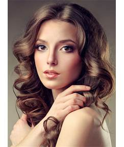 Medium Graceful Wavy Charming Synthetic Hair Lace Front Women Wig 16 Inches
