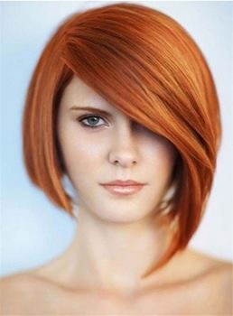 Short Comfortable Straight Fabulous Synthetic Hair Capless Women Wig 8 Inches