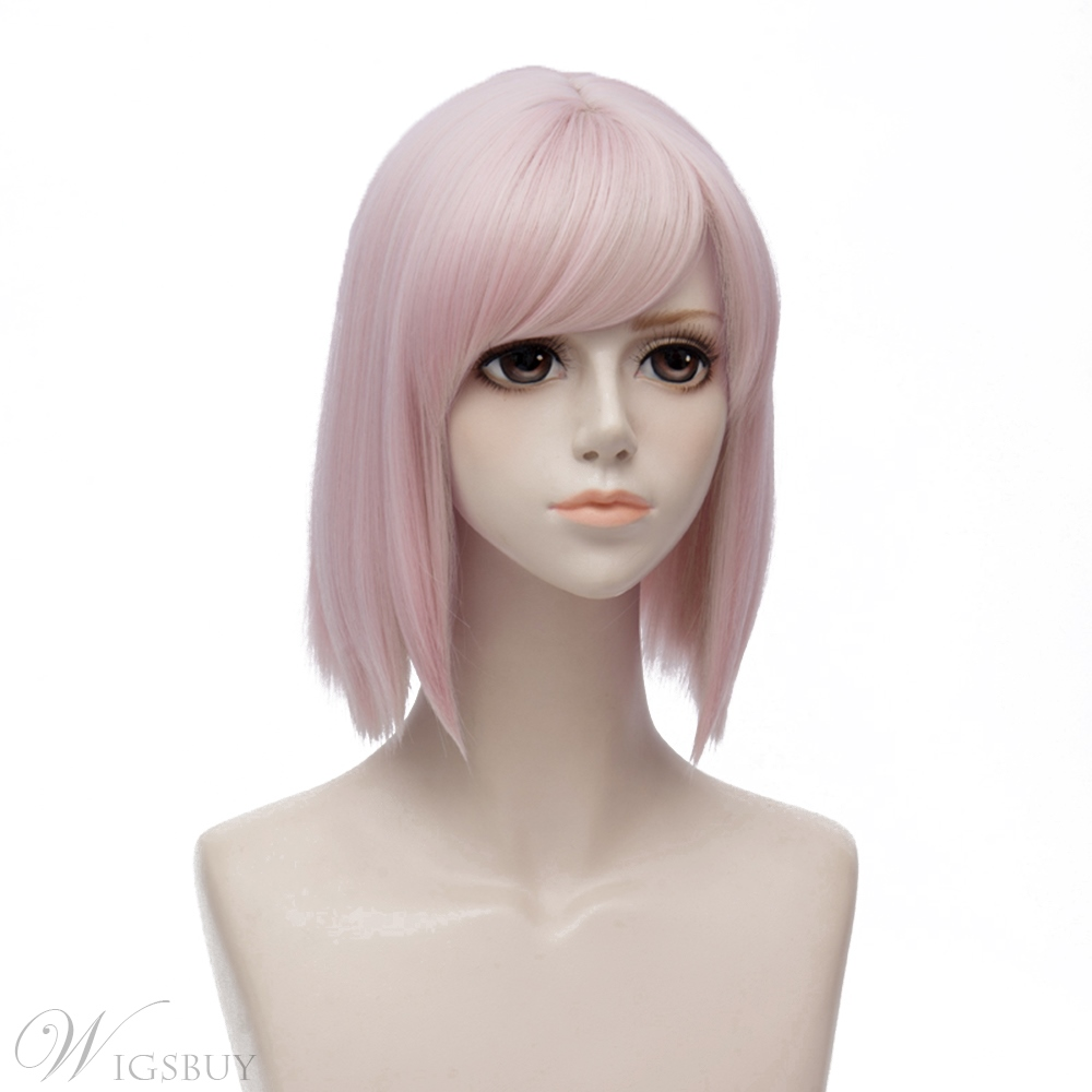 Fate Pink Straight Synthetic Hair Capless Coslpay Wig 12 Inches