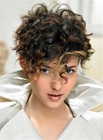 Hot Short Curly Synthetic Hair Capless Wigs 8 Inches