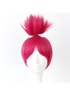 Red Synthetic Hair Braid Cosplay Wigs 14 Inches