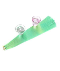 Changes Color As The Temperature Changes Green Synthetic Straight Hair Extensions
