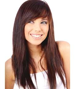 Long Natural Straight Textured Synthetic Hair Capless Women Wig 18 Inches
