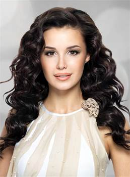 Long Attractive Wavy Sexy Synthetic Hair Lace Front Women Wig 18 Inches