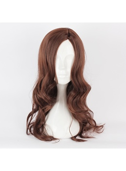 Long Curly Dark Brown Cosplay Wig 28 Inches