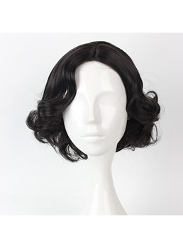 Adorable Lolita Black Short Curly Cosplay Wig
