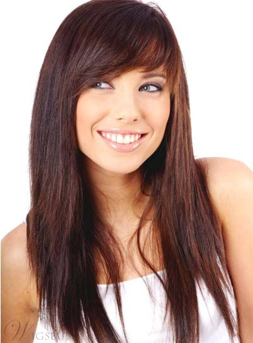 Long Natural Straight Textured Synthetic Hair Capless Women Wig 18 Inches 12962944