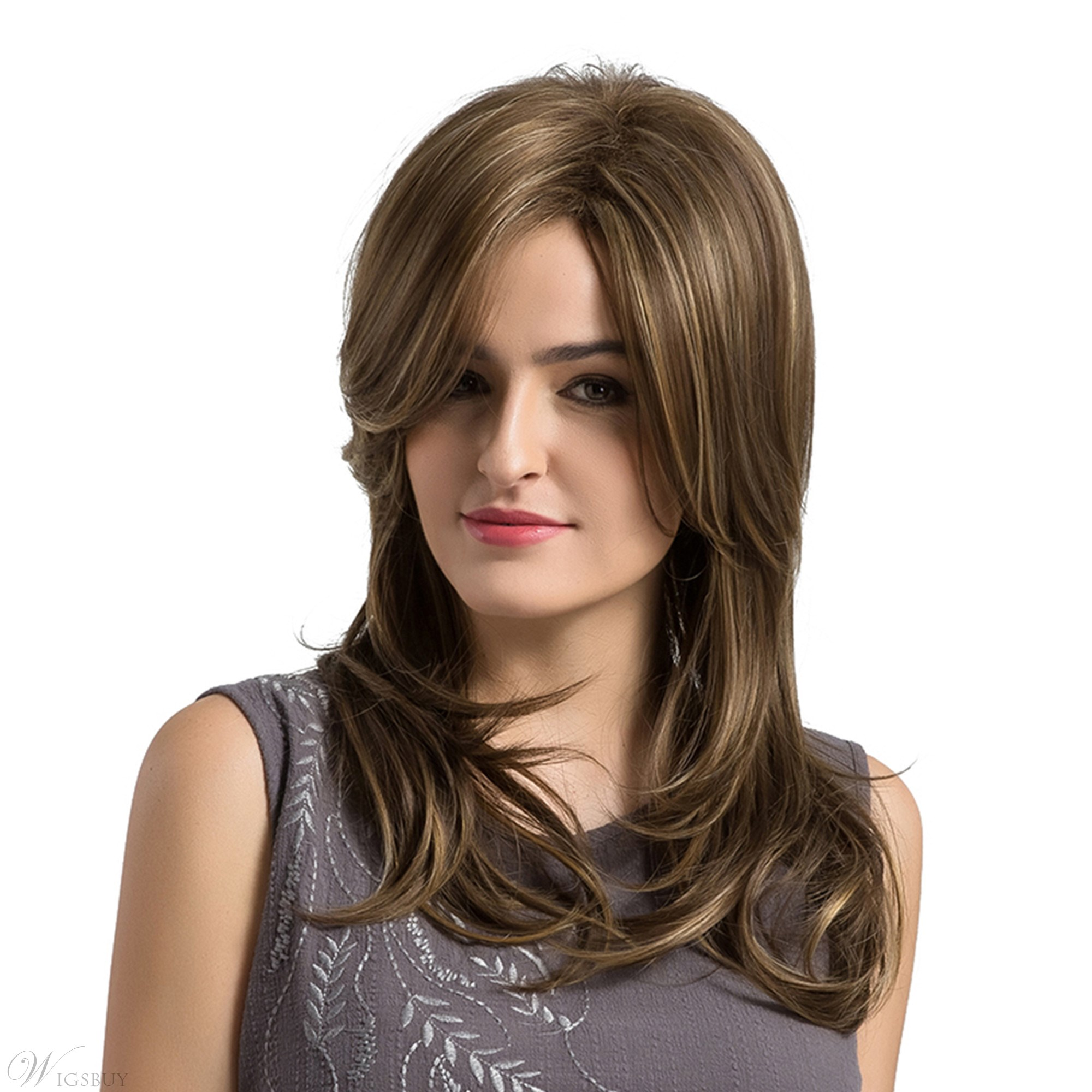 Long Natural Wave Frontal Fringe Synthetic Capless Women Wigs 13187282