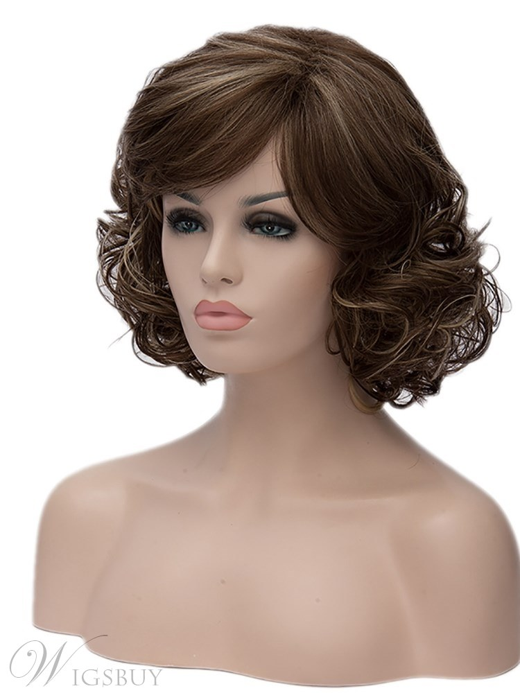 Clearance Sale Synthetic Hair Curly Capless Women Wig