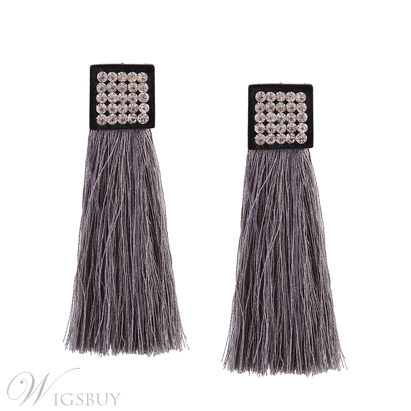Diamnate Tassels Colour Earrings