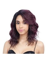 Shoulder-length Wavy Synthetic Hair Lace Front African American Wigs 14 Inches