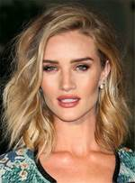 Rosie Huntington Medium Wavy Sexy Synthetic Hair Lace Front Women Wigs 12 Inches
