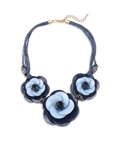 Hot Sale Color Block Floral Acrylic Necklace