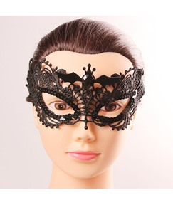 Halloween Masquerade Mask Vampire Bat Lace Sequins Mask