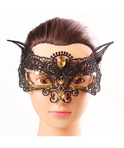 Fox Shaped Rhinestone Inlaid Mysterious Halloween Masquerade Mask