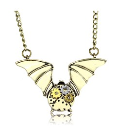Halloween Series Bat Gear Wing Unique Pendant Necklace