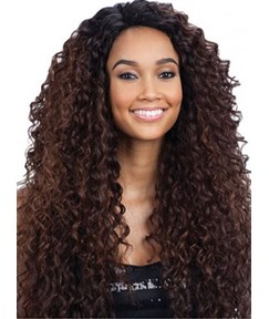 African American Human Hair Full Lace Long Curly Brown 26 Inches