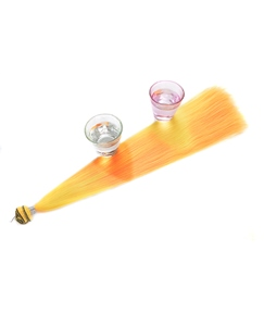 Color changes As The Temperature Changes Orange Synthetic One Piece Clip In Hair