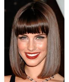 Medium Straight Bob Style Synthetic Hair Capless Women Wigs 12 Inches