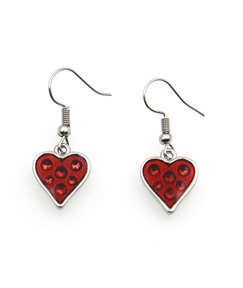 Halloween Series Oil Drip Red Heart-Shaped Earrings