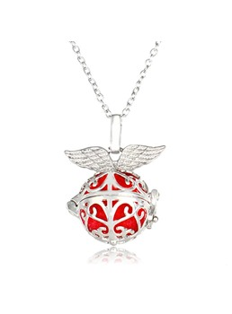 Halloween Series Luminous Pomander Wing Pendant Necklace