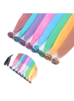 Color changes As The Temperature Changes Green Synthetic One Piece Clip In Hair