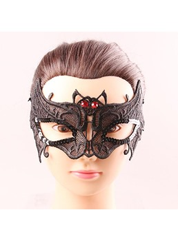 Halloween Lace Hollow Out Bat Shaped Mystery Sexy Mask