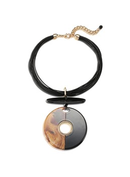 Simple Torus Pendant Acrylic Necklace