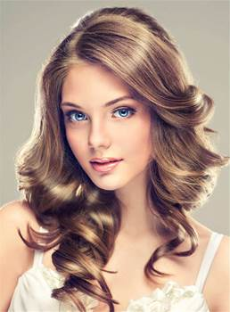 Long Sexy Wavy Spirial Synthetic Hair Lace Front Women Wig 18 Inches
