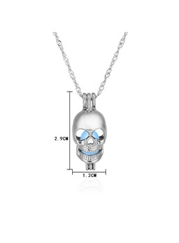 Halloween Series Luminous Smile Skull Hollow Out Necklace