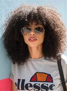 Medium Natural Curly Kinky African American Synthetic Hair Capless Wigs 14 Inches