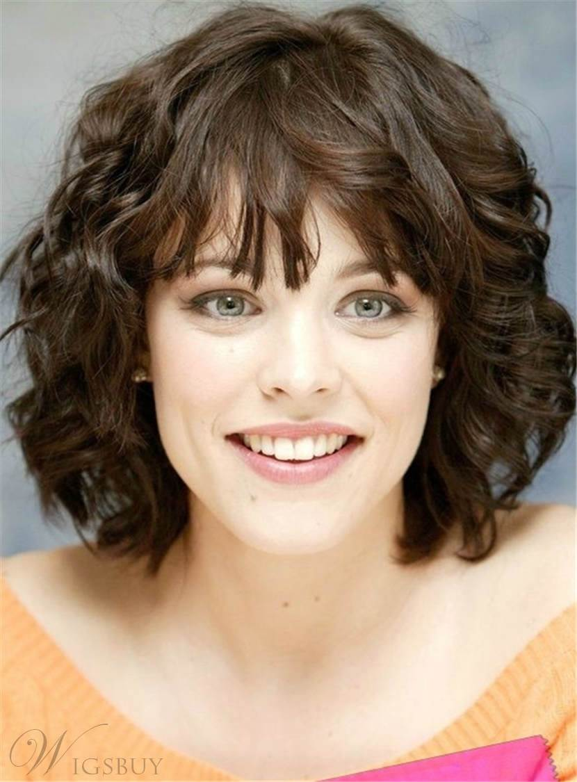 Short Wavy Synthetic Hair Capless Women Wigs 10 Inches