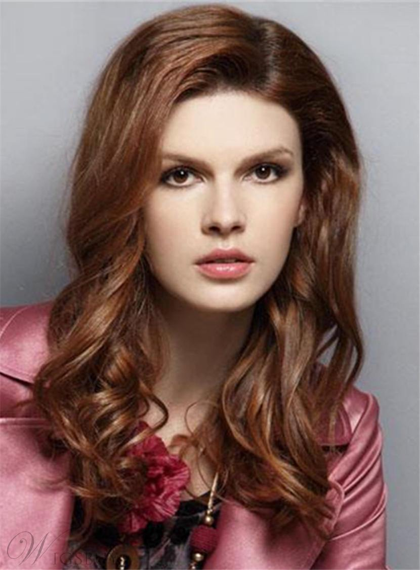 Medium Attractive Wavy Fabulous Synthetic Hair Lace Front Women Wigs 16 Inches