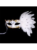 Halloween Color Painting Feather Court Style Halloween Masquerade Mask
