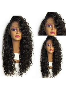Long Comfortable 150% Density Curly African American Synthetic Hair Lace Front Wigs 24 Inches