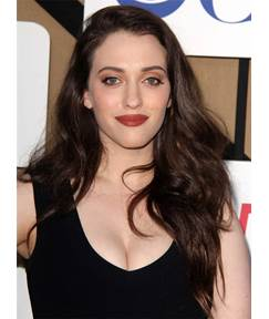 Long Kat Dennings Straight Natural Synthetic Hair Lace Front Women Wigs 22 Inches