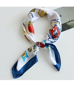Popular Cartoon Printing Satin Scarf