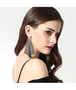 Fashion Auger Studded Long Ear Studs