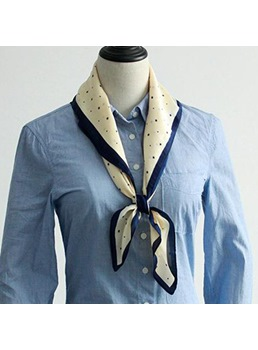 Simple Star Pattern Charmeuse Function Scarf