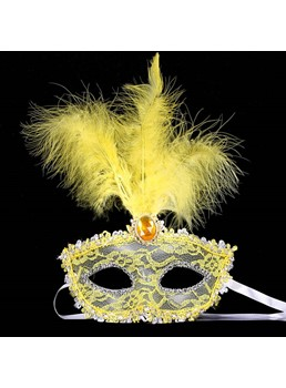 New Arrival Crystal Inlaid Feather Lace Halloween Masquerade Mask