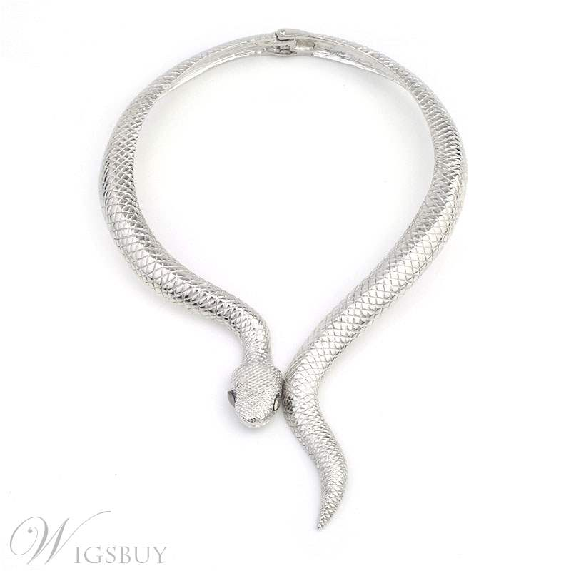 Popular Fashion Gold Snake Exaggerated Necklace