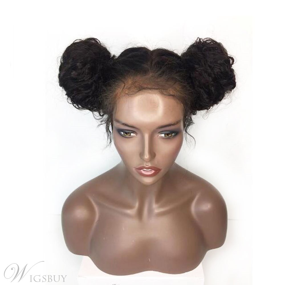 Hot Sale Curly Long Synthetic Hair Lace Front Cap African American Wigs 24 Inches