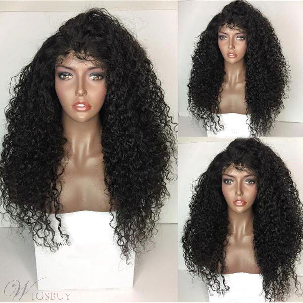 Hot Sale Curly Long Synthetic Hair Lace Front Cap African