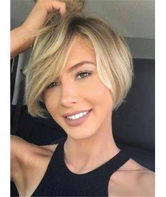 Short Straight Cute Synthetic Hair Capless Women Wigs 8 Inches