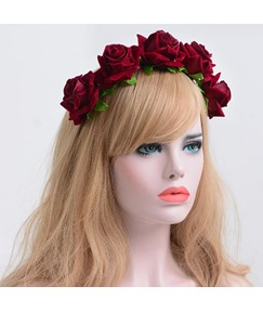Hot Sale Velvet Simulation Rose Flower Hair Accessories