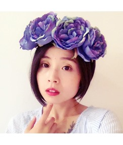 Simulation Peony Wreath Bridesmaid Hair Accessories