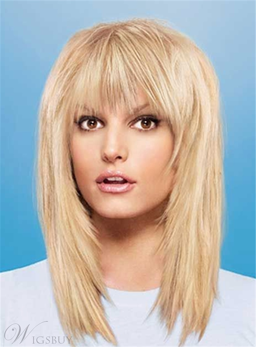 Layered Long Straight Synthetic Hair Capless Women Wigs14 Inches 12997023