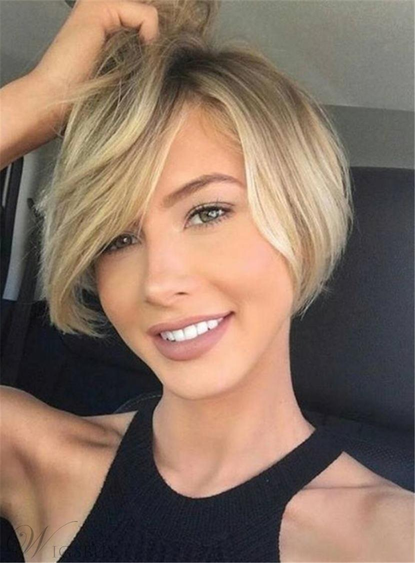 Short Straight Cute Synthetic Hair Capless Women Wigs 8 Inches 12994081