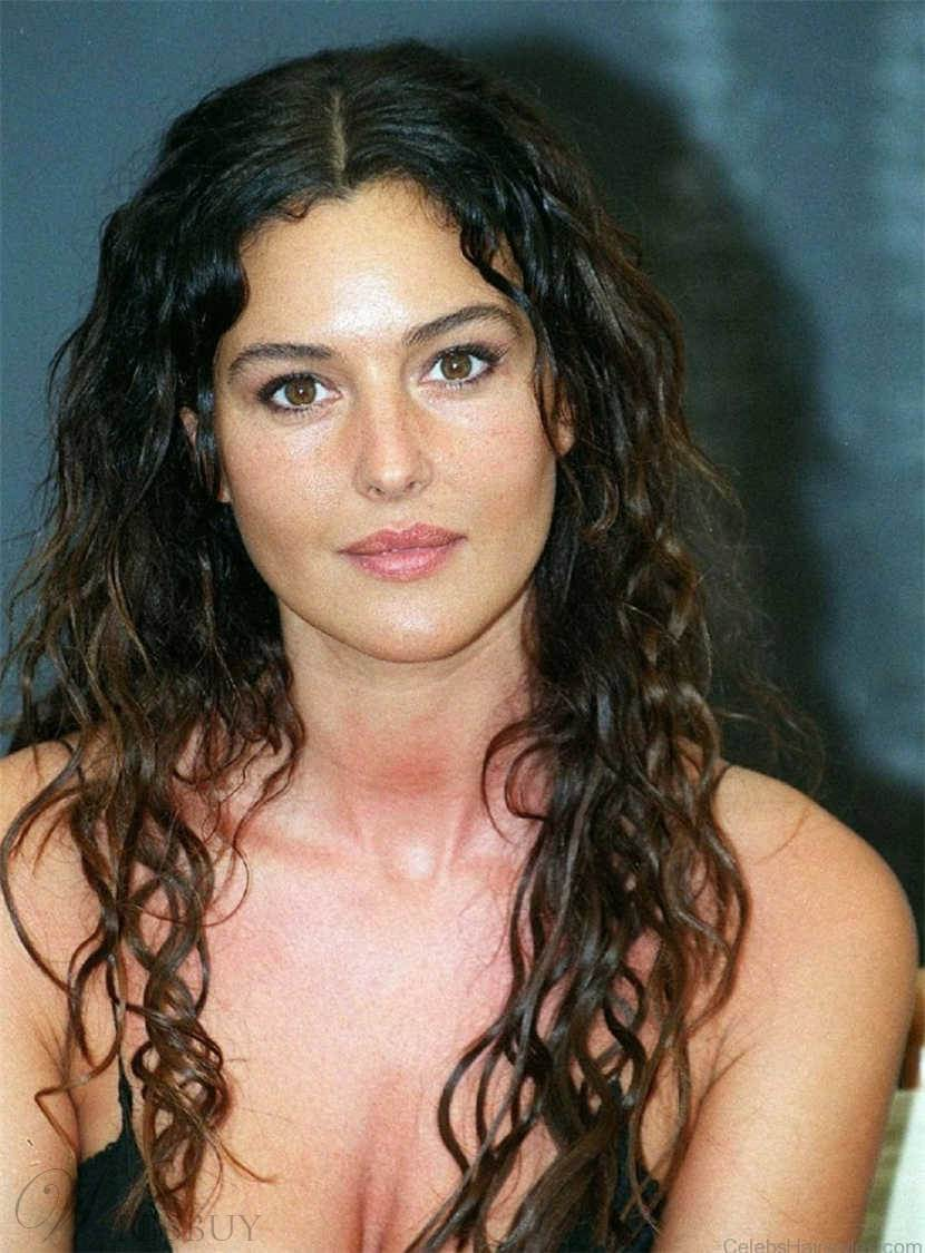 Monica Bellucci Long Wavy Glamour Synthetic Hair Lace Front Women Wigs 22 Inches