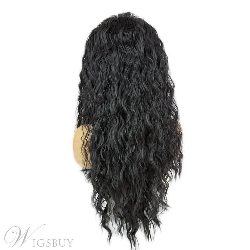 Long Sexy Loose Wave African American Synthetic Hair Lace Front Wigs 24 Inches